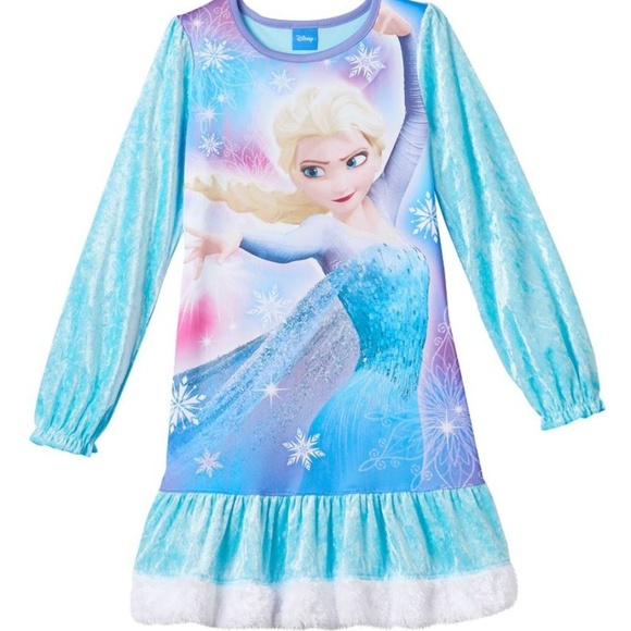 Disney Store Frozen Elsa Princess Nightgown Dress Pajama Costume PJ Size 7//8 1st